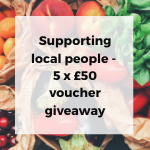Supporting local people - voucher giveaway